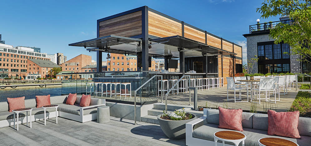 Sagamore Shipping Container Bar