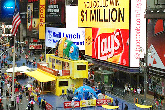 times square shipping container
