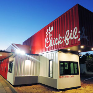 Chick fil A Shipping Container Restaurant