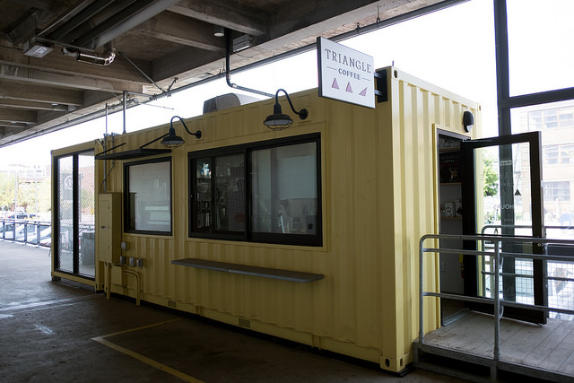 Triangle Coffee Shipping Container