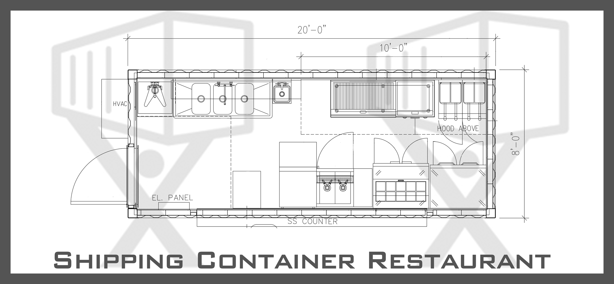 Container Restaurant Floor Plan