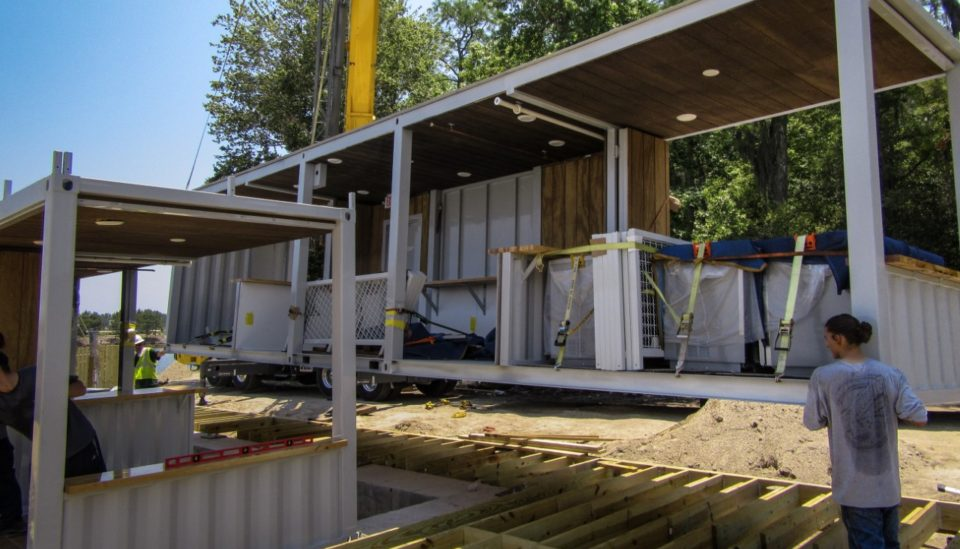 modular construction shipping container